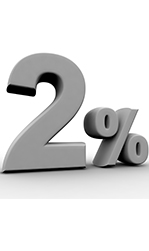 2 Percent Promo