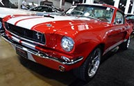 Custom Red Mustang painted with Sherwin-Williams paint.