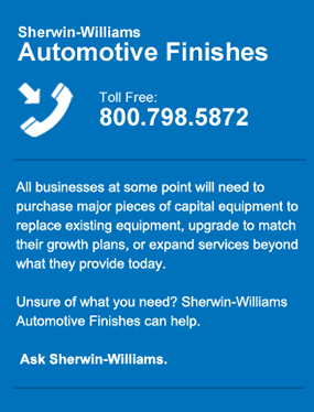 Call Sherwin-Williams Automotive Finishes at 800-798-5872. We have partnered with industry-leading brands to provide products that meet the technician needs, OEM requirements, and also improve productivity.