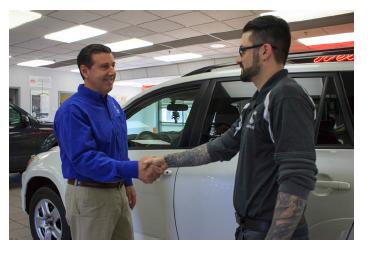 Customer Car Dealership Handshake Promo