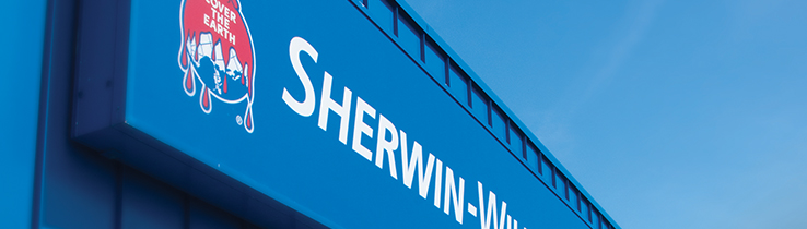Blue Sherwin Sign