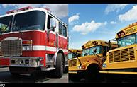 Firetruck School Bus Promo