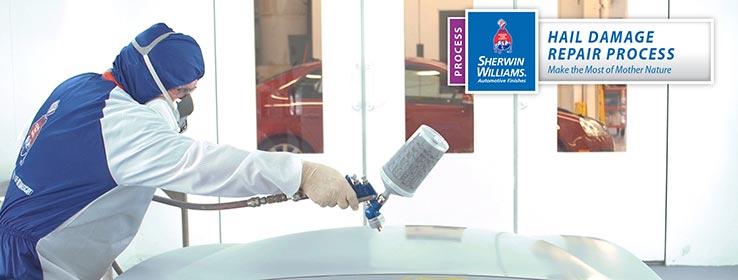 Sherwin-Williams Automotive Refinish Hail Damage Repair process.