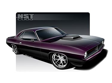 "1970 Plymouth Hemi NST 'Cuda' – ""New School Technology"