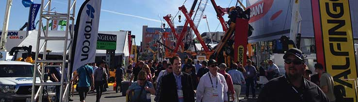 Crowd at a trade show event